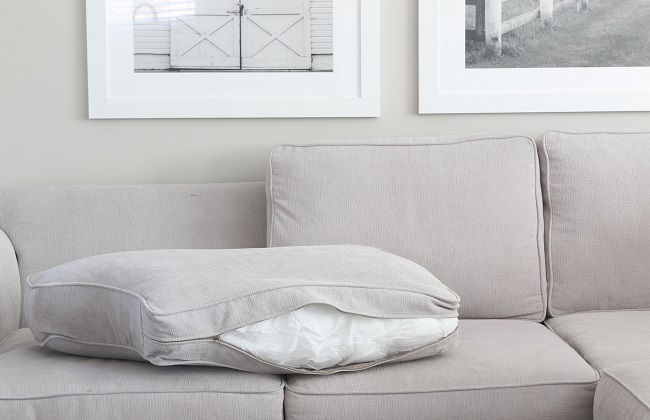 how to clean cushion cover